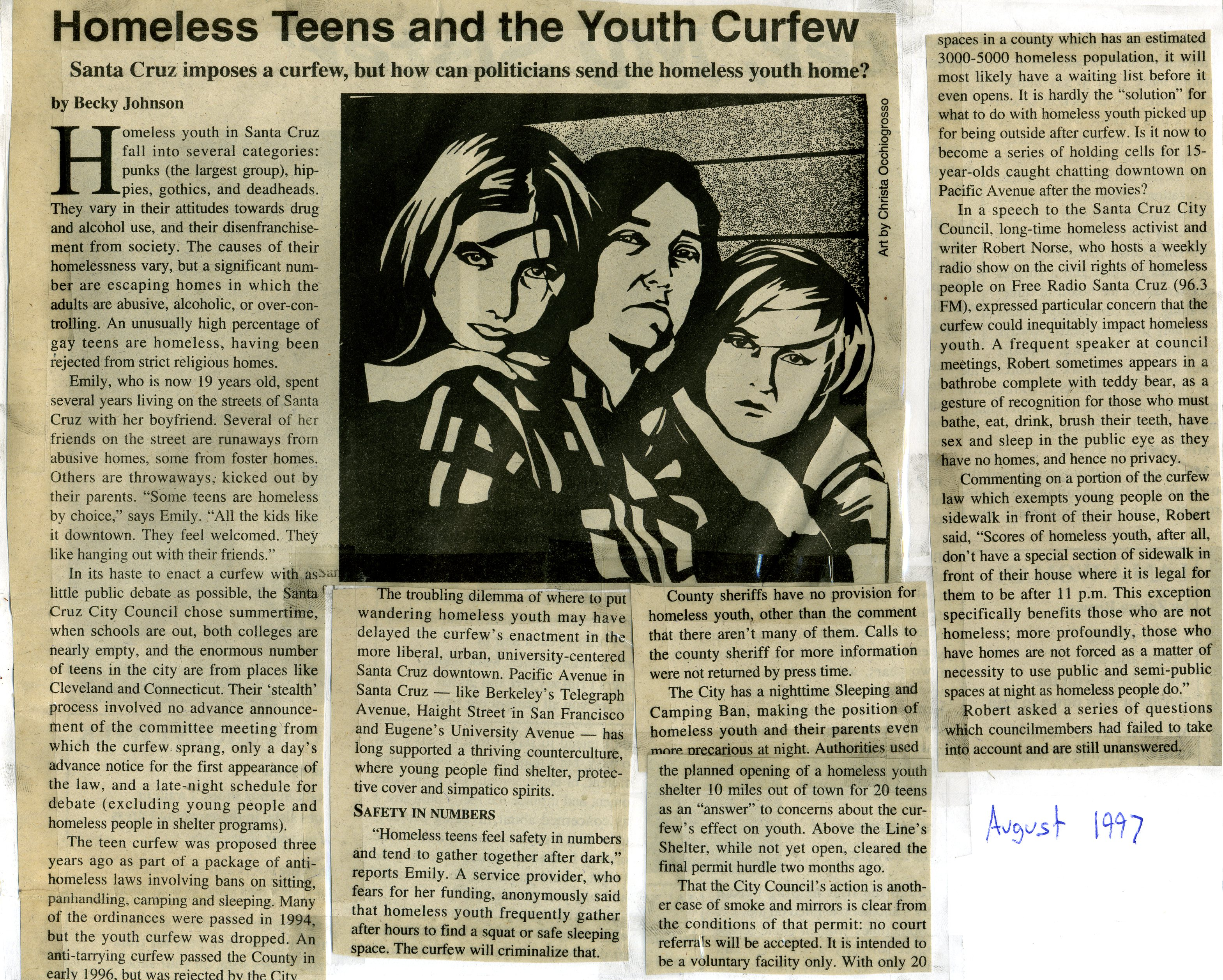 curfews the streets and teens Time limits and curfews should be set to keep teens from roaming the streets there is no good reason for children to be out unaccompanied late at night older children staying out late.